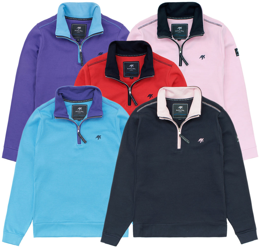 Adults Quarter Zip Sweatshirt Bundle No.2 - Mix and Match - 3 Pack