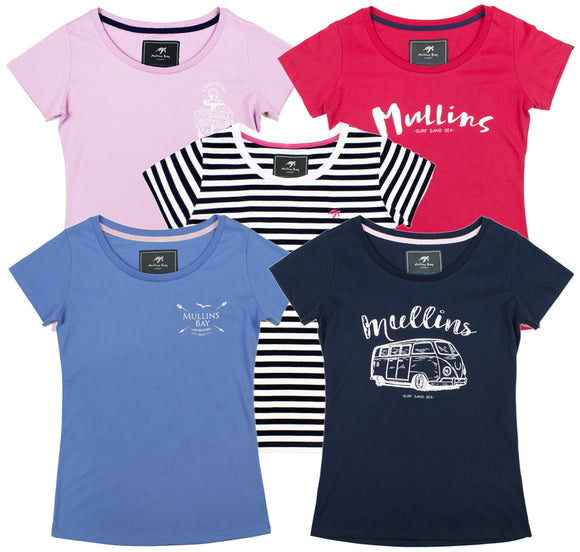Ladies Short Sleeve T-shirt Bundle - Mix and Match - 3 Pack
