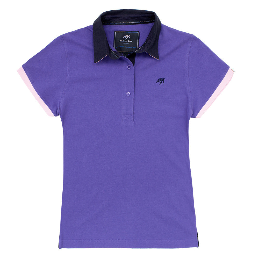 Ladies Mullins Bay Polo Shirt Indigo Haze