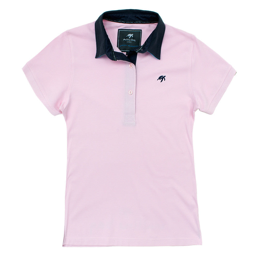 Ladies Mullins Club Polo Shirt Ice Pink