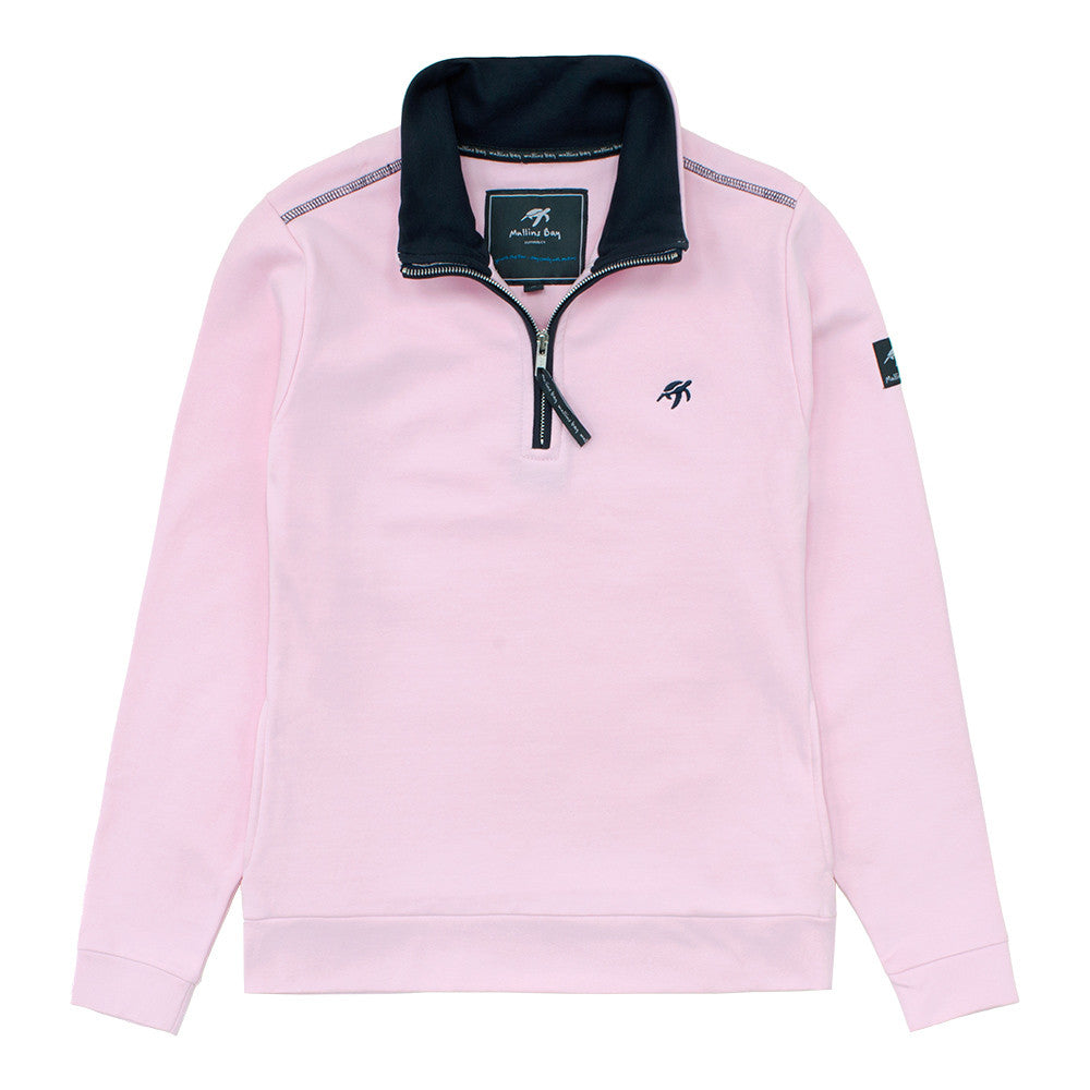 Ladies West Coast Half Zip Sweatshirt Ice Pink