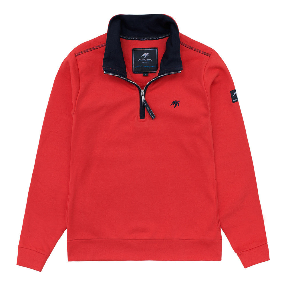 Ladies West Coast Half Zip Sweatshirt Spicy Red