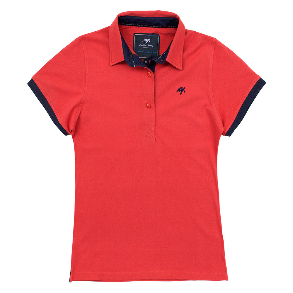 Ladies Mullins Club Polo Shirt Spicy Red