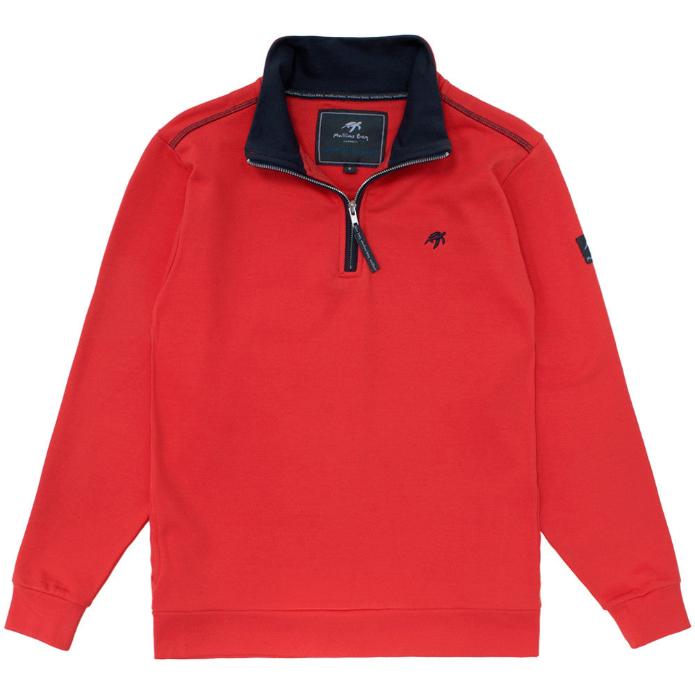 Unisex West Coast Half Zip Sweatshirt Spicy Red