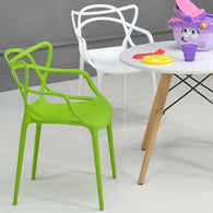 Sillas Masters peques blanco / verde - Philippe Starck