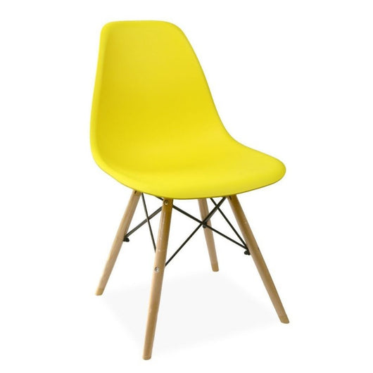 Silla DSW amarillo - Plastic Side Chair de Eames