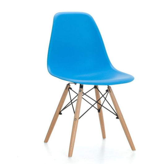 Silla DSW azul - Plastic Side Chair de Eames