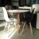 Silla DSW negro - Plastic Side Chair de Eames