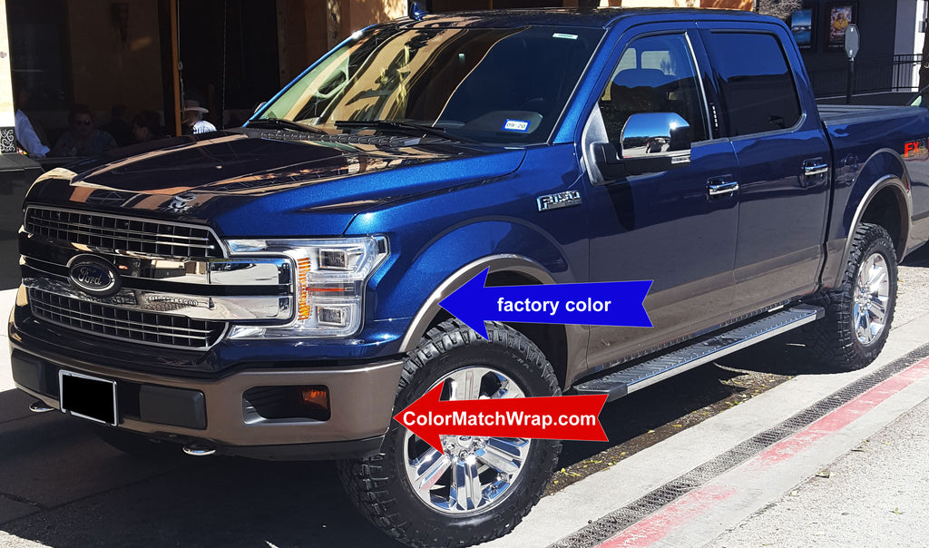 Ford D1 Stone Gray Chrome Delete Paint Color Matching Wrap
