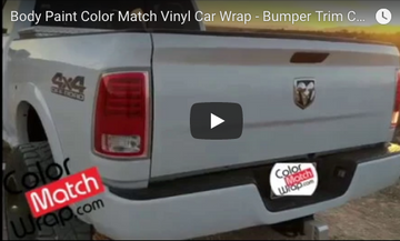 Body Paint Color Match Vinyl Car Wrap - Bumper Trim Chrome Delete