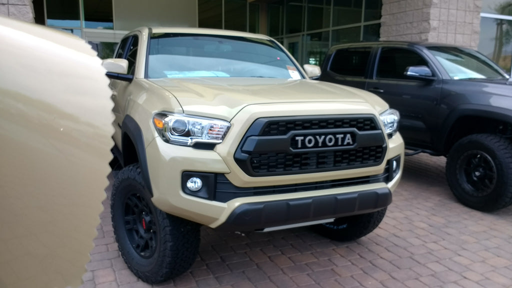 Toyota Quicksand 4V6 available in paint color matching vinyl wrap!