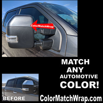 Ford J7 Bumper & Mirror Color Matching Vinyl Chrome Delete