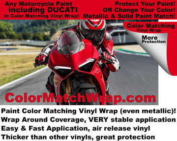 Motorcycle Paint Color Match Vinyl Wrap Now Available!