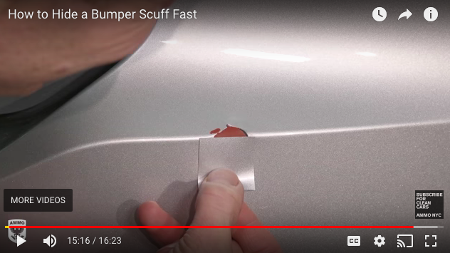 AMMO NYC how to fix paint scratches with vinyl from Color Match Wrap