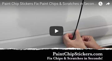 New Video! Fix Paint Scratches & Chips in seconds, get a great match! Paint Chip Stickers!