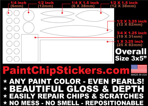 NEW PRODUCT! Paint Chip Stickers - Chip & Scratch repair in seconds!