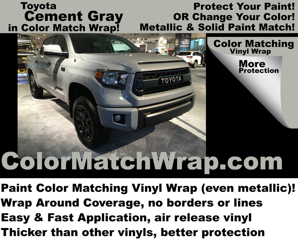 Toyota Cement Gray 1H5 Vinyl Wrap: Buy Cement Gray in a wrap!