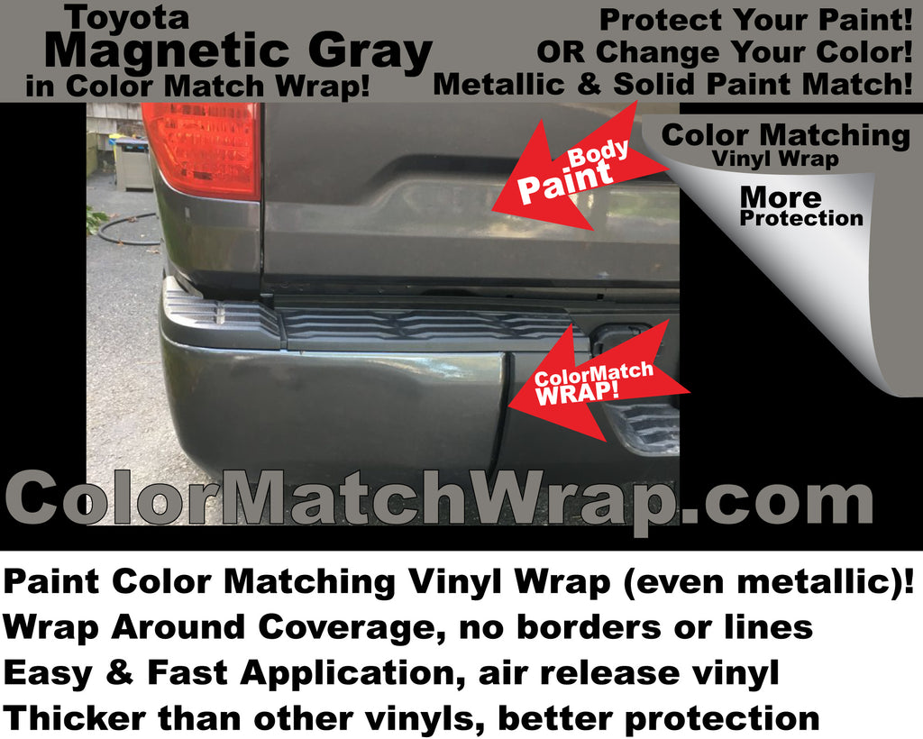 We wrap for you: Bumper Chrome Delete and Body Color Match Vinyl Wrap Service