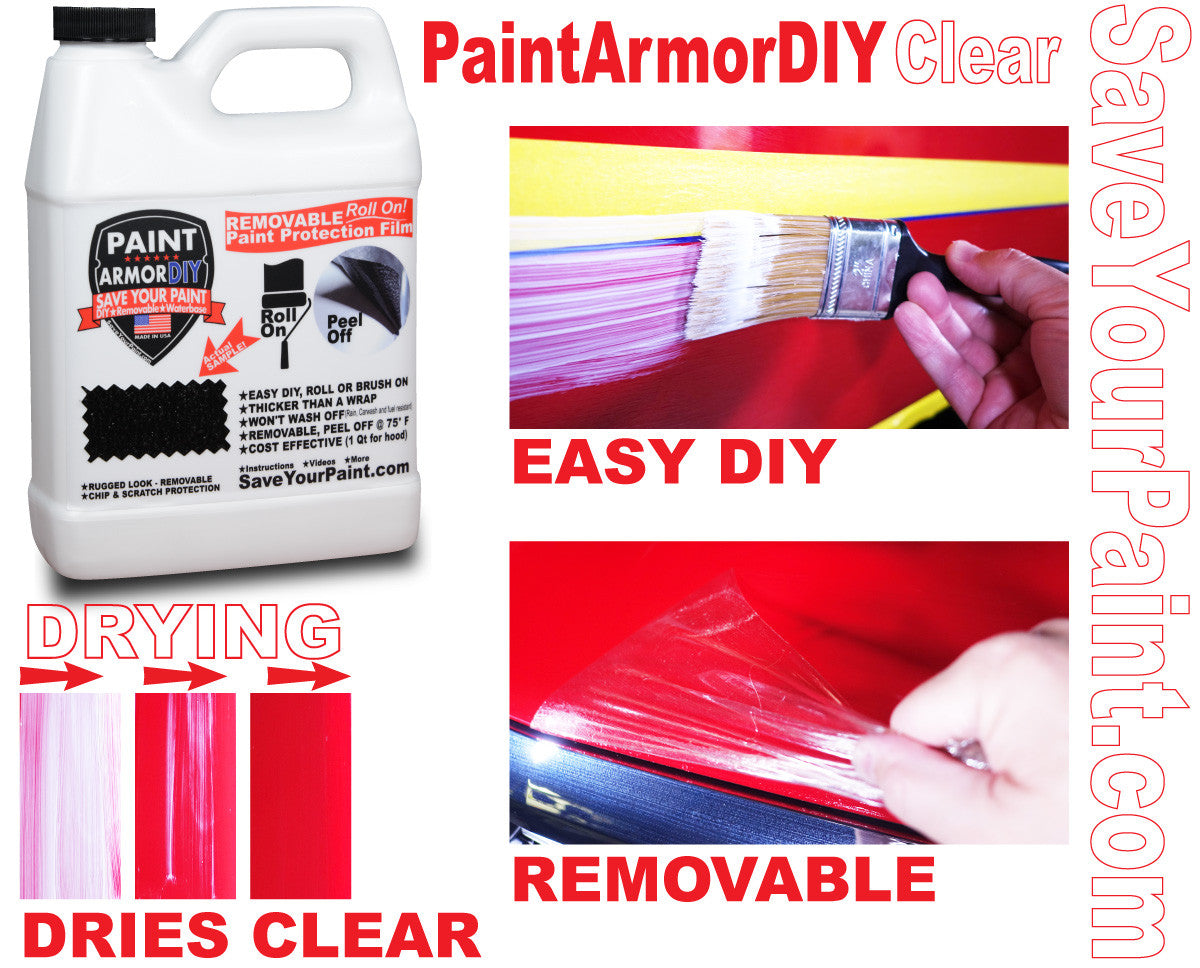 Hood Paint Protection Clear Bra: PaintArmorDIY Clear Removable Paint Protection film