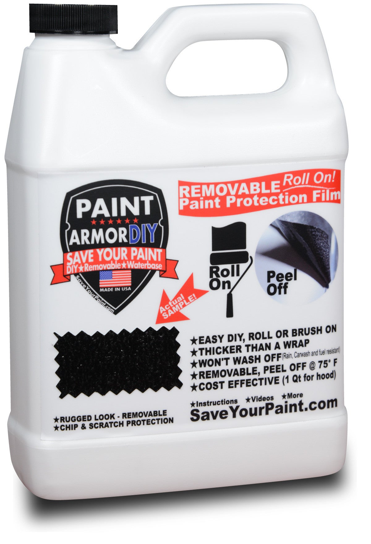PaintArmorDIY Bottle - Removable Paint Protection - Clear Bra - Vehicle Wrap