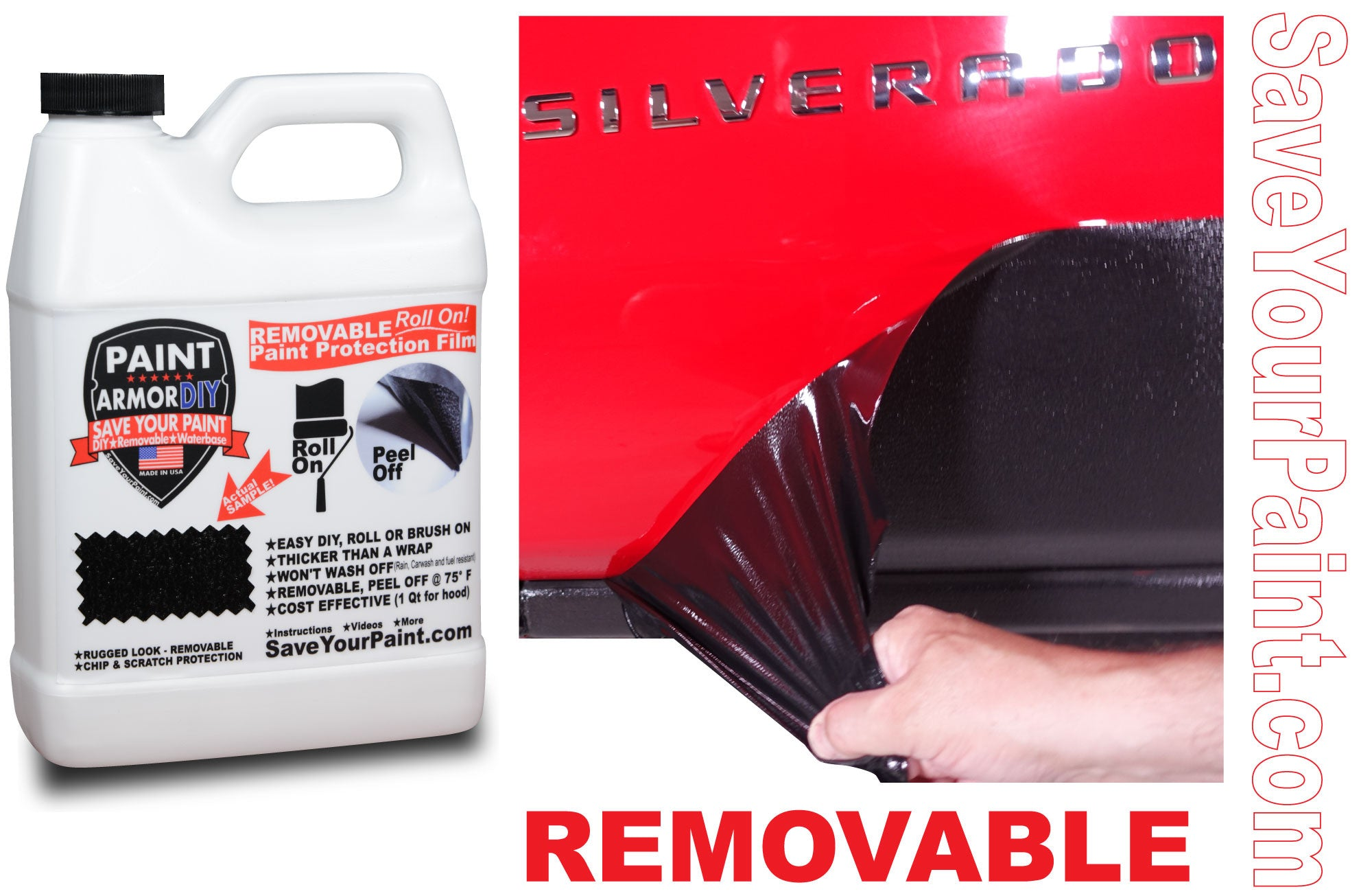 Peelable Paint Rocker Panel Protection: PaintArmorDIY Removable Paint Protection