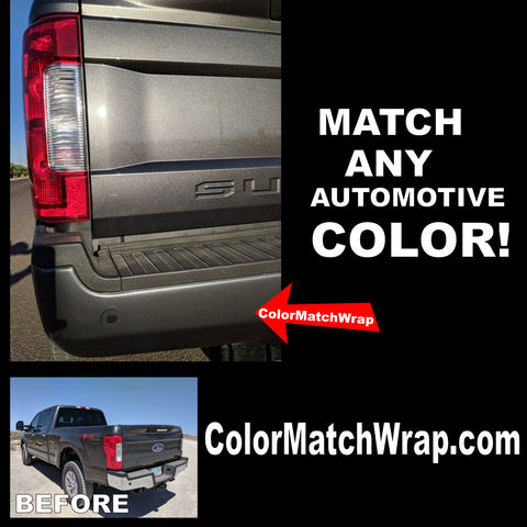 Bumper Chrome Delete Color Matching Vinyl Wrap Ford J7  ColorMatchWrap.com