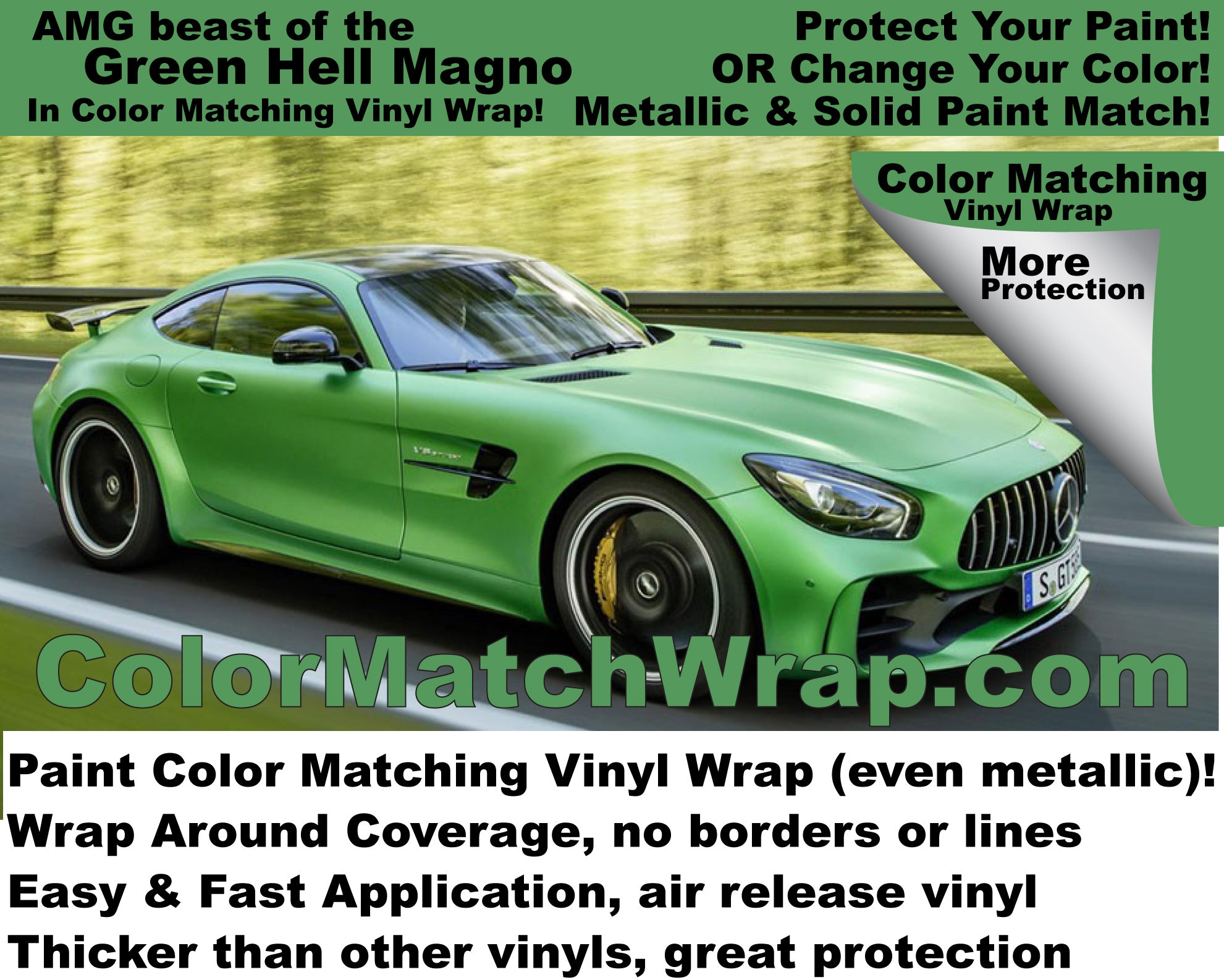 amg gt r beast of the green hell vinyl wrap