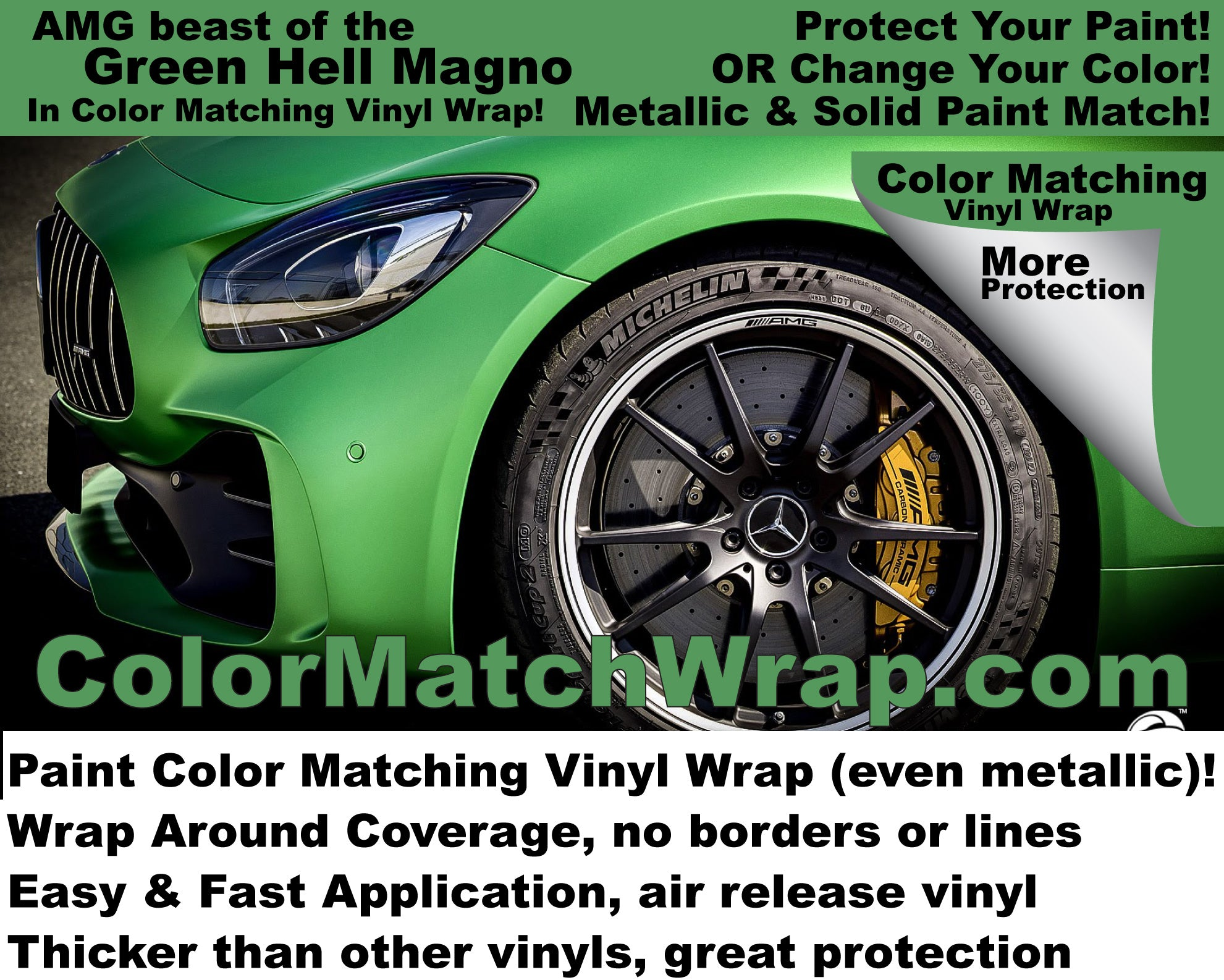 amg gt r beast of the green hell car vinyl wrap