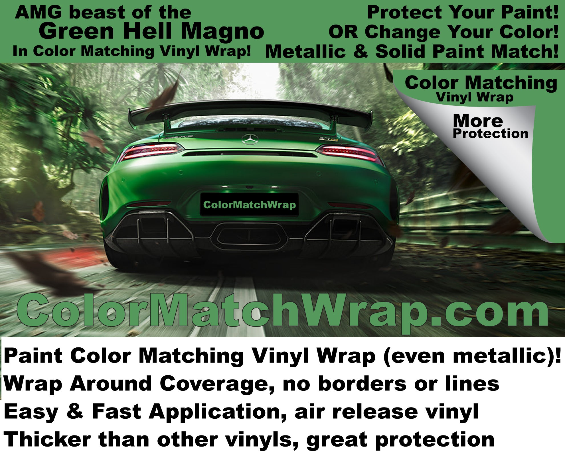 where to buy amg gt r beast of the green hell vinyl wrap