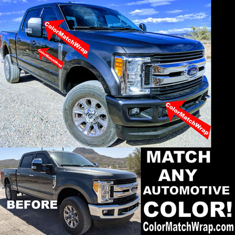 Bumper Chrome Delete Color Matching Vinyl Ford J7  ColorMatchWrap.com