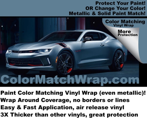 2018 Camaro Vinyl Wrap: Auto Paint Color Matching Vinyl Wrap