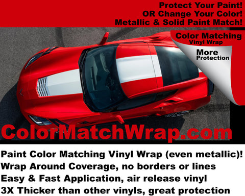 2017 Chevy Corvette Vinyl Wrap: Paint Color Match Vinyl Wrap