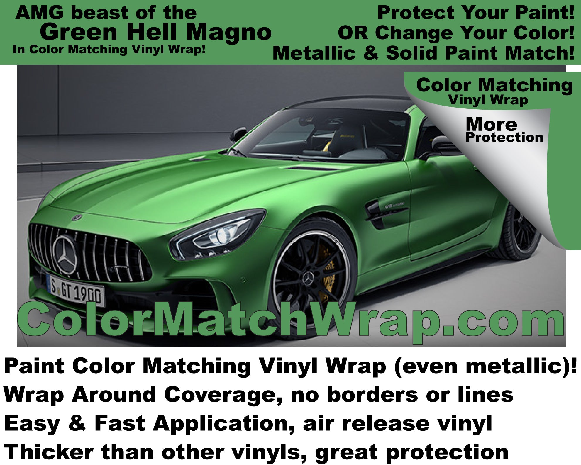 AMG Beast of the Green Hell Magno in Vinyl Wrap!
