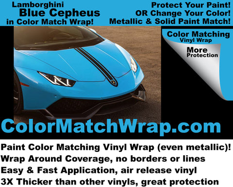 Lamborghini Blu Cepheus Vinyl Wrap: Color Match Wrap!