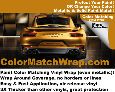 2017 Porsche 911 Turbo Vinyl Wrap: paint color vinyl wrap