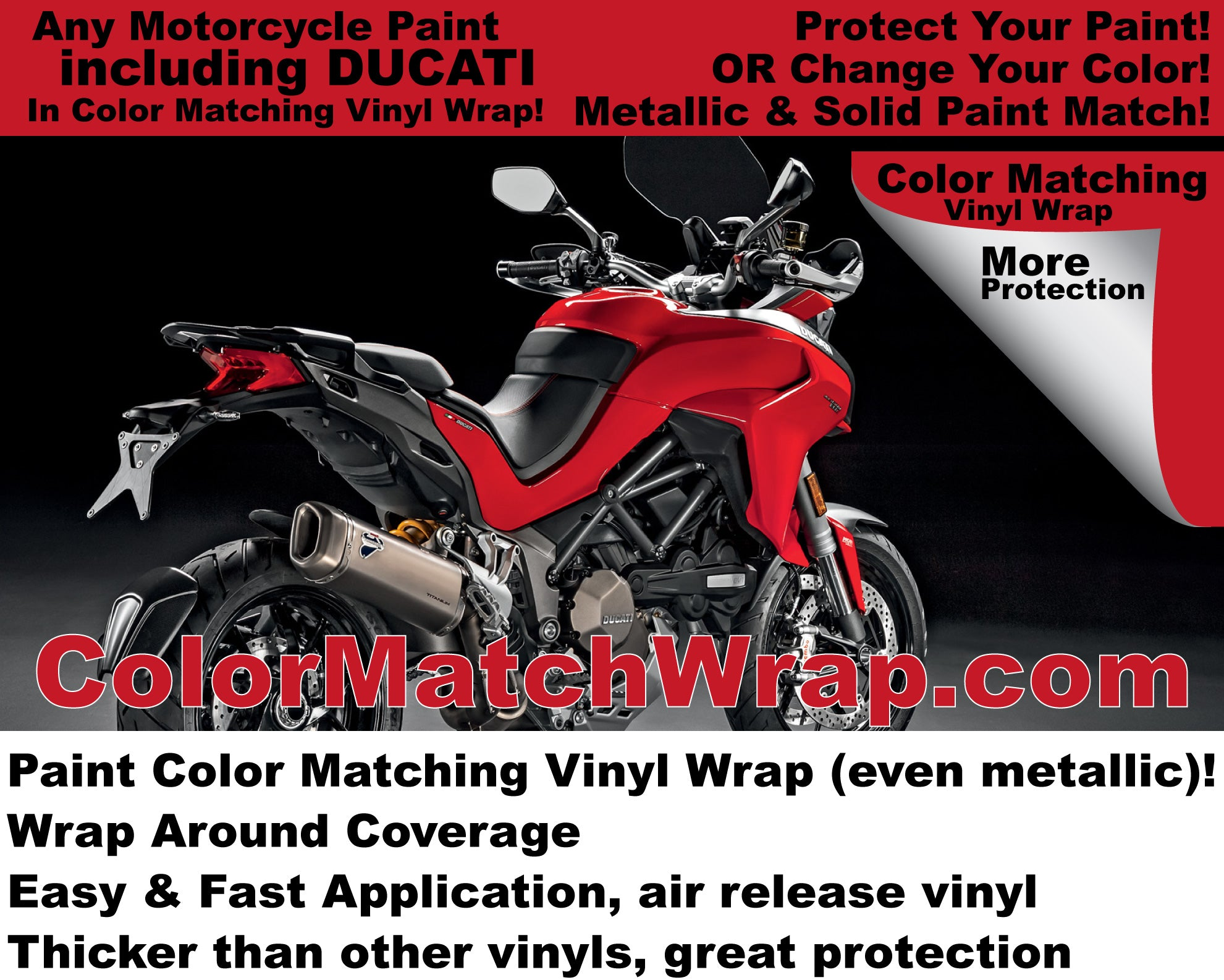 paint color matching vinyl wrap for motorcycles