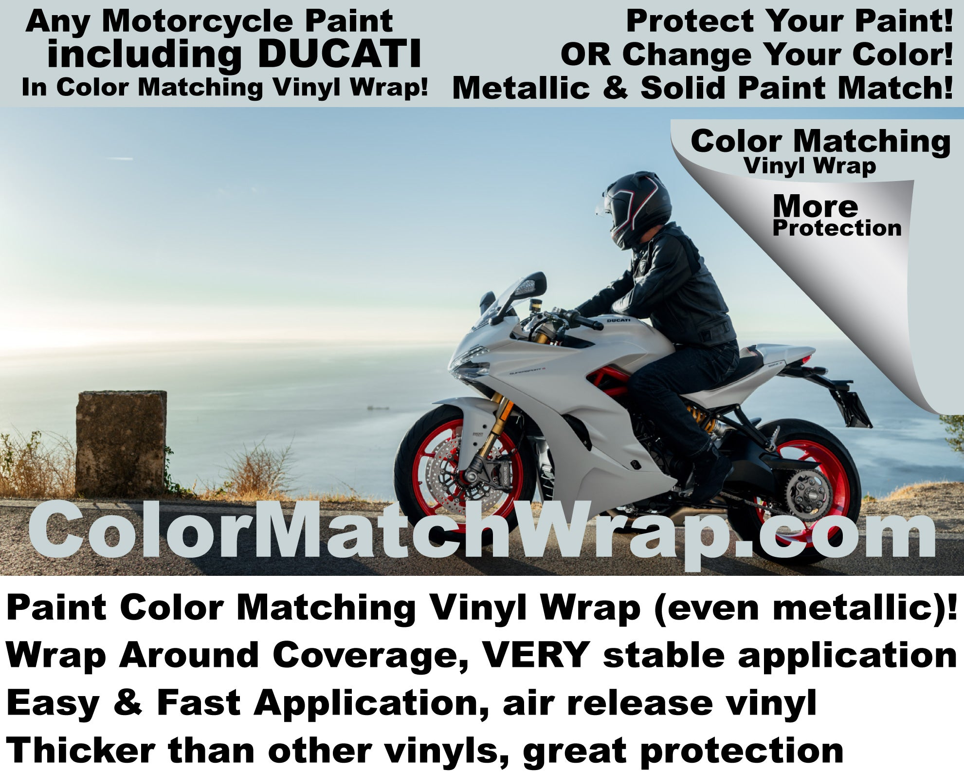match any motorcycle paint in vinyl wrap