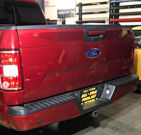 ford rr ruby red color match vinyl rear bumper