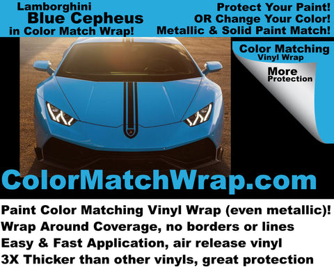 Lamborghini Blu Cepheus: Get any Lambo color in vinyl wrap!