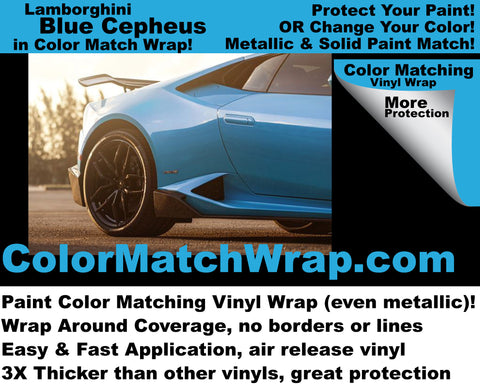 Lambo Blu Cepheus - Buy any lamborghini color in a vinyl wrap