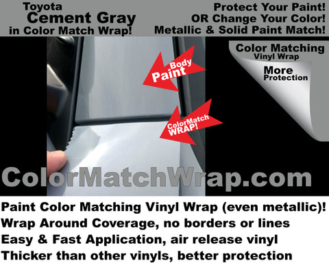 paint matching vinyl Toyota Cement Gray color 1H5