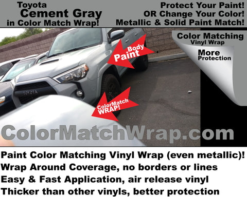 body paint matching vinyl Toyota Cement Gray color 1H5