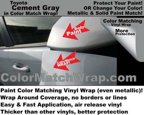 body color matching vinyl Toyota Cement Gray color 1H5