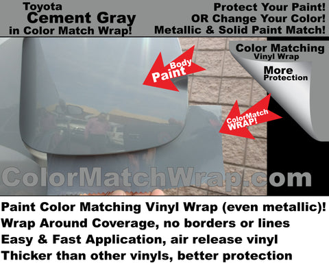 body color matching vinyl wrap Toyota Cement Gray color 1H5