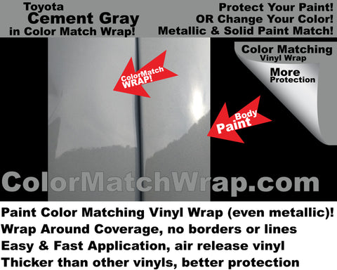paint match vinyl Toyota Cement Gray color 1H5