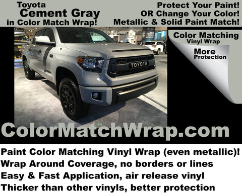 Available Now! Toyota Cement Gray 1H5 Vinyl Wrap