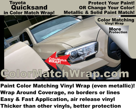 Toyota Quicksand 4V6 available in a vinyl wrap!