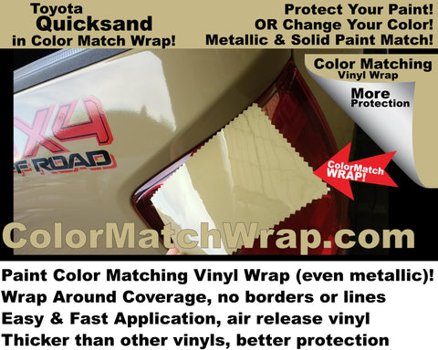 Paint Color Matching Toyota Quicksand 4V6 vinyl wrap!
