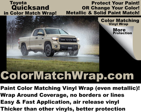 Get Toyota Quicksand in a vinyl car wrap!