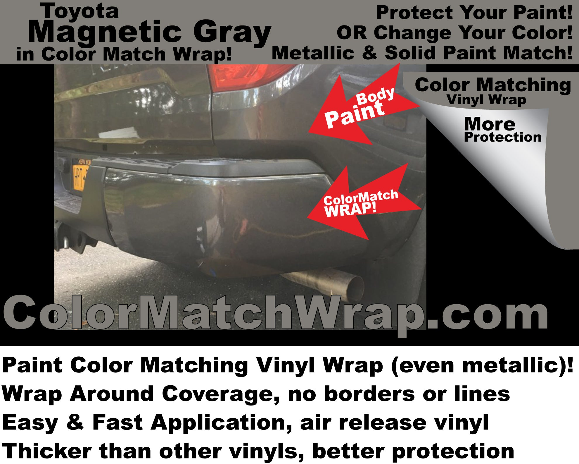 Trim Parts Chrome Delete with Color Matching Vinyl Wrap
